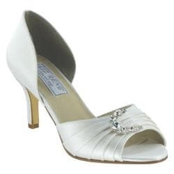 Women's Liz Rene Justine White Silk Satin