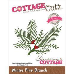CottageCutz Elites Die 3.6 X2.7 - Winter Pine Branch