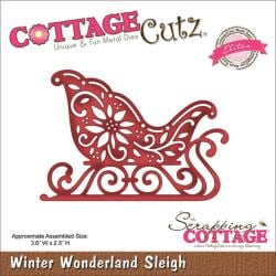 CottageCutz Elites Die 3.6 X2.5 - Winter Wonderland Sleigh