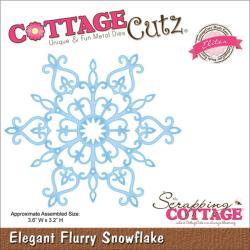 CottageCutz Elites Die 3.6 X3.2 - Elegant Flurry Snowflake