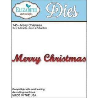 Elizabeth Craft Metal Die - Merry Christmas