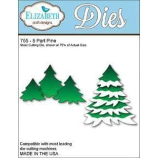 Elizabeth Craft Metal Die - 5-Part Pine