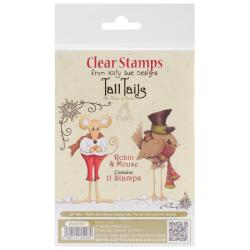 Katy Sue Designs Tall Tails Clear Stamps 4 X6 Sheet - Robin & Mouse