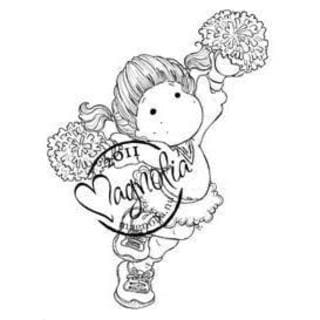 The Winner Takes It All Cling Stamp 3.75 X6.5 Package - Cheerleader Tilda