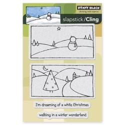 Penny Black Cling Rubber Stamp 4 X6 Sheet - White Christmas