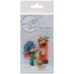 Wild Rose Studio Ltd. Clear Stamp 3.5 X3 Sheet - Antoine At Postbox