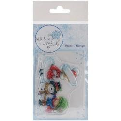 Wild Rose Studio Ltd. Clear Stamp 3.5 X3 Sheet - Building A Snowman