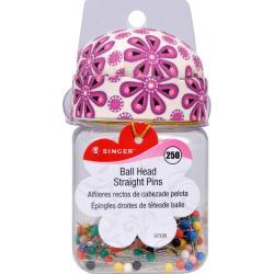 Sew Cute Ball Head Straight Pins W/Jar - Size 17 250/Pkg