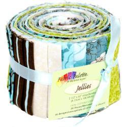 Fabric Palette Jellies 100 Cotton 2.5 X42 Cuts 20/Pkg - Zinnia Blue