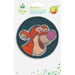 Disney Winnie The Pooh Tigger Circle Iron-On Applique -