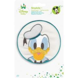 Disney Mickey Mouse Donald In Circle Iron-On Applique -