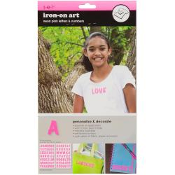 Letter Transfers 1 2 Sheets/Pkg - Neon Hot Pink