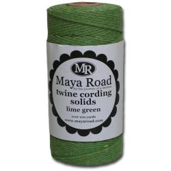 Twine Cording 100 Yards/Roll - Lime Green
