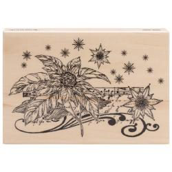 Penny Black Mounted Rubber Stamp 3.5 X5 - Floral Notes