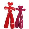 Set of 2 Hand-knit Heart Beat Alpaca Wool Dolls (Per�)
