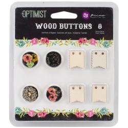 The Optimist Wood Buttons -