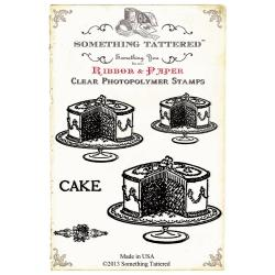 Something Tattered Clear Stamps 4 X4 - Cake Cake Cake