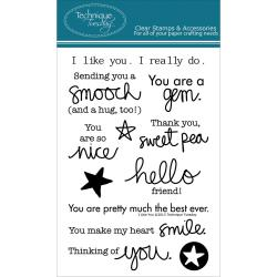 Technique Tuesday Clear Stamps 4 X6 - I Like You