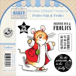 Makey Bakey EZMount Christmas Cling Stamp Set 4.75 X4.75 - Festive Fun & Frolics