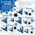 Hot Off The Press Templates 12 X12 - Easy Lacy Snowflakes
