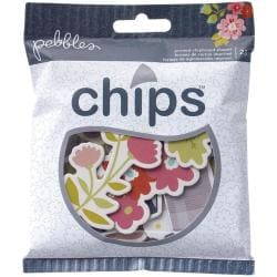 Front Porch Chips Printed Chipboard Pieces 23/Pkg - Chalkboards & Shapes