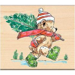 Penny Black Mounted Rubber Stamp 3.5 X4 - Christmas Tree Ted