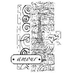 Penny Black Mounted Rubber Stamp 4.25 X3 - City Of Love