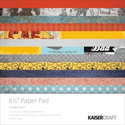 Garage Days Paper Pad 6.5 X6.5 -