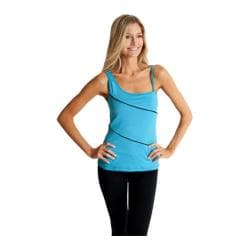 Women's Be Up Piped Namaste Top Turquoise/Black