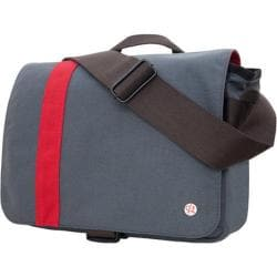 Token Astor Shoulder Bag w/Stripe Small Grey/Red