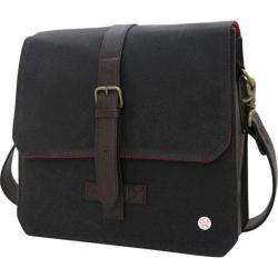 Token Waxed Carroll Shoulder Bag Dark Brown