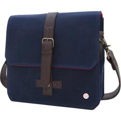 Token Waxed Carroll Shoulder Bag Navy