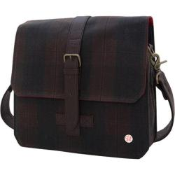 Token Waxed Carroll Shoulder Bag Plaid/Dark Brown