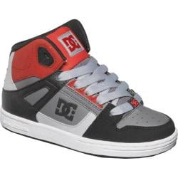 Boys' DC Shoes Rebound Black/Grey/Red