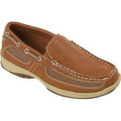 Boys' Deer Stags Pal Boat Shoe Dark Tan