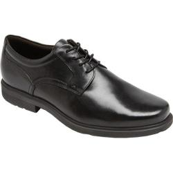 Men's Rockport Style Tip Plain Toe Black Leather