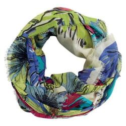 Women's San Diego Hat Company Floral Print Scarf w/ Fray Edges BSS1398 Multi