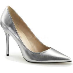 Women's Pleaser Classique 20 Pump Silver Metallic PU