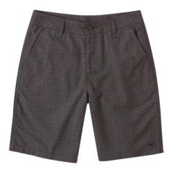 Boys' O'Neill Delta Plaid Shorts Black