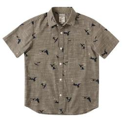 Boys' O'Neill Gully Button-Down Shirt Charcoal
