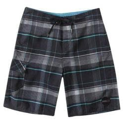 Boys' O'Neill Santa Cruz Plaid Boardshorts Black