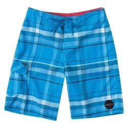 Boys' O'Neill Santa Cruz Plaid Boardshorts Bright Blue