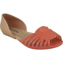 Women's Mary Pepper 2145230128 D'Orsay Flat Nude/Peach