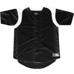 Boys' 3N2 Full-Button Short Sleeve Shirt Black/White