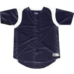 Boys' 3N2 Full-Button Short Sleeve Shirt Navy /White