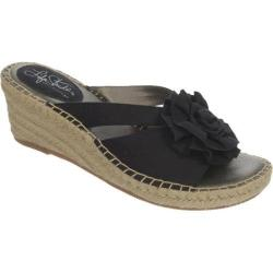 Women's Life Stride Benefit Espadrille Black Canvas