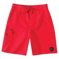 Boys' O'Neill Santa Cruz Solid Boardshorts Red