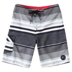 Boys' O'Neill Santa Cruz Stripe Boardshorts Grey