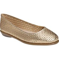 Women's Aerosoles Between Us Ballet Flat Gold Leather