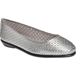 Women's Aerosoles Between Us Ballet Flat Silver Leather